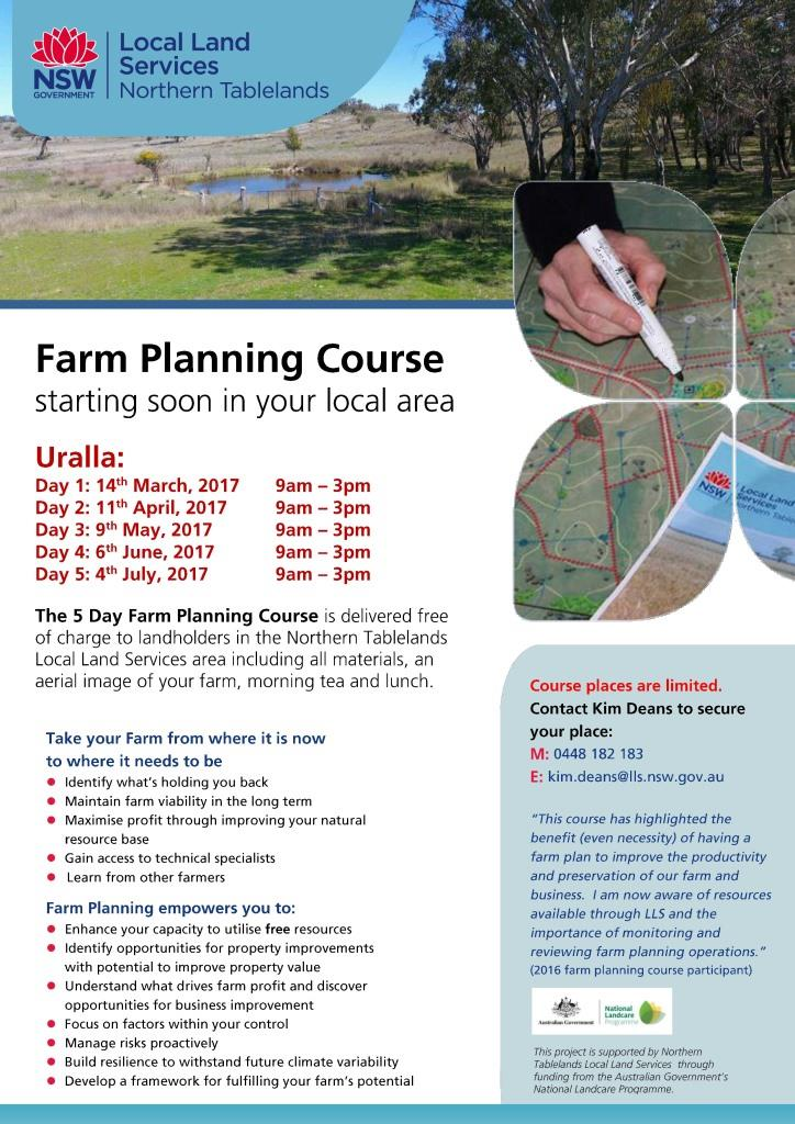 Farm Planning Course Uralla 2017 page 0