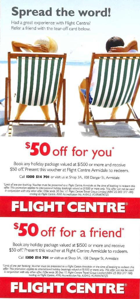 FlightCentre offer page 0