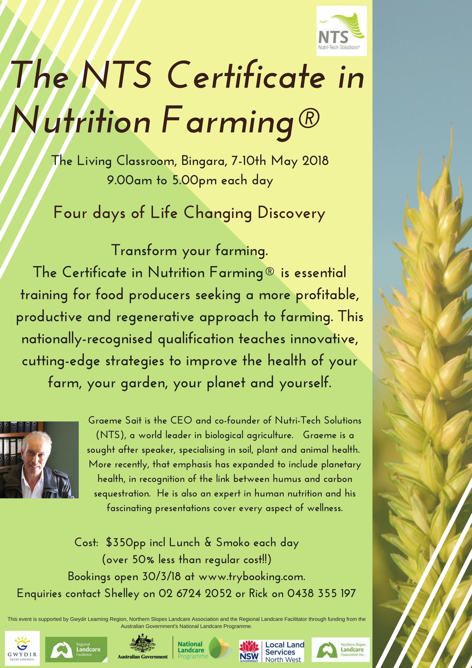 NTS Certificate in Nutrition Farming Flyer